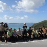 後ろの海から米軍は上陸した。沖縄線の始まりである。