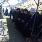 3月28日に行われた慰霊祭