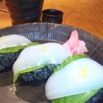 イカ墨のお寿司